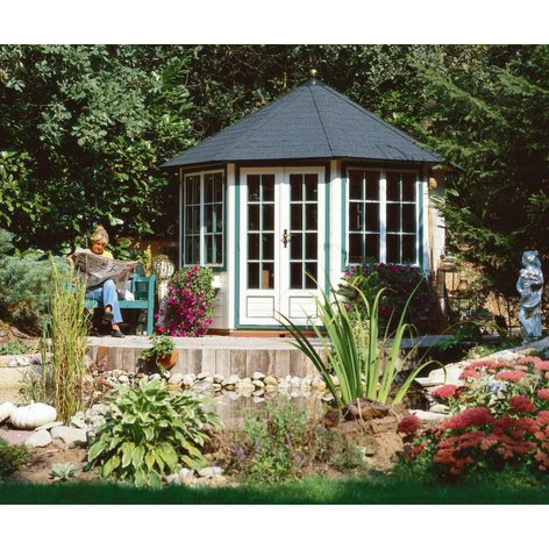 Lugarde prima louisa 300cm 28mm for Round garden buildings