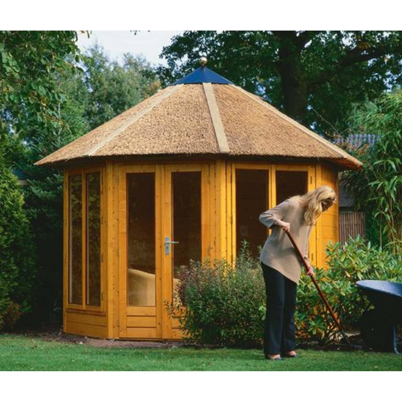 Lugarde prima tessa 300cm 28mm for Round garden buildings