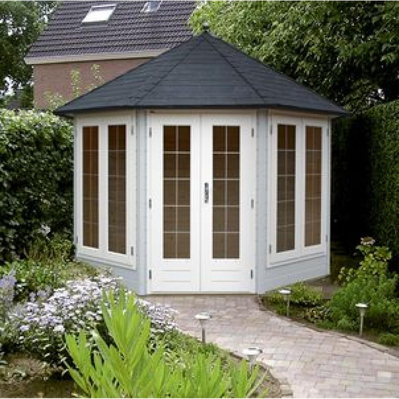 Lugarde prima de luxe 300cm 28mm for Round garden buildings