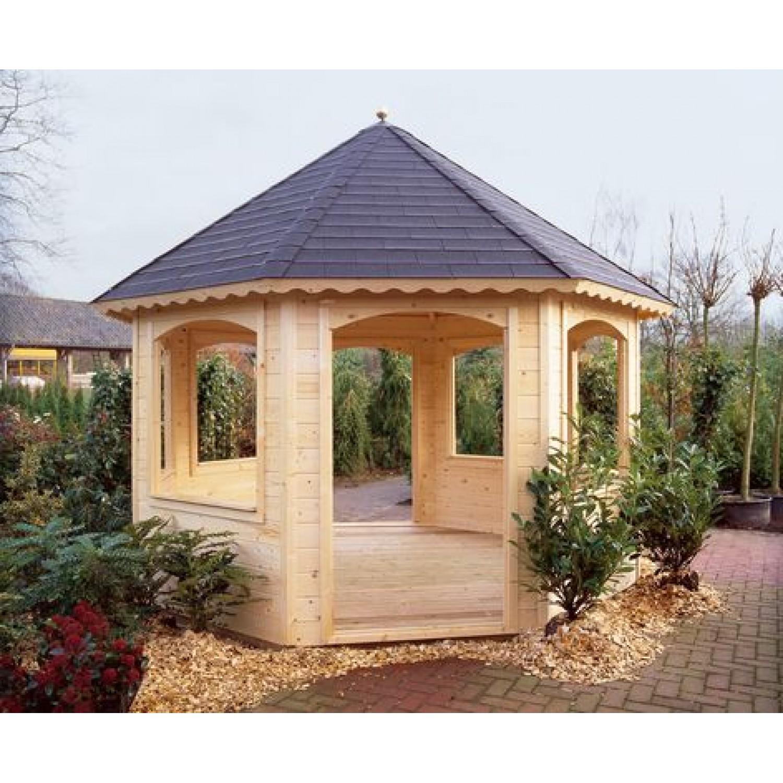 Lugarde prima chantal 350cm 44cm for Round garden buildings