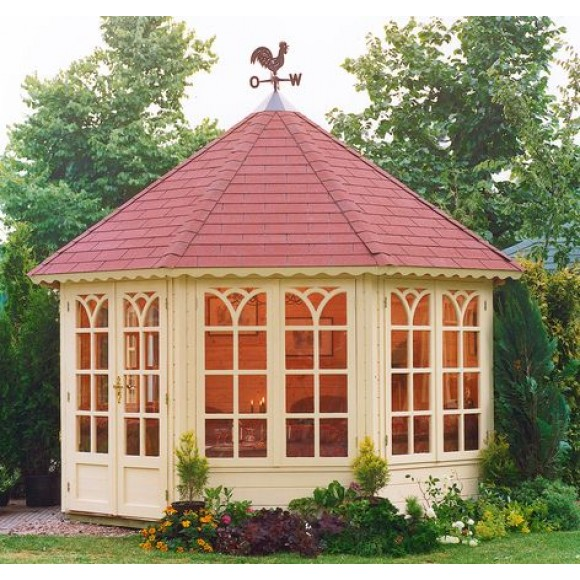 Lugarde prima grand lady 350cm 44mm for Round garden buildings