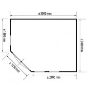 Lugarde Prima Fifth Avenue 240 x 300cm Classic Corner Summerhouses