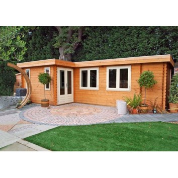 Lugarde Log Cabin Bordeaux 350 x 700cm