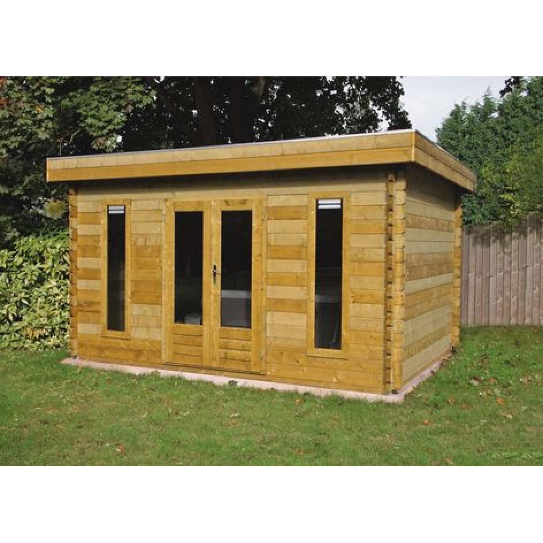 Lugarde log cabin helsinki 400 x 250cm for Log cabin architecture