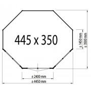 Lugarde Prima Josephine 445 x 350cm 44mm Lugarde Prima Oval Series Summerhouses
