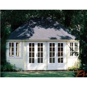 Lugarde Prima Nadine 525 x 385cm 44mm Lugarde Prima Oval Series Summerhouses