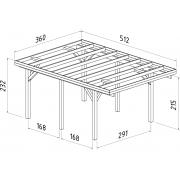 Palmako Carport Karl 11.7m2 Timber Garages & Carports