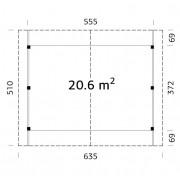 Palmako Carport Robert 20.6m2 Timber Garages & Carports