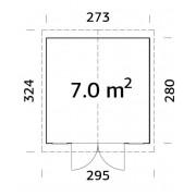 Palmako Shed Dan 7.0m2