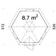Palmako Grill Kota Eva 8.7m2 Palmako Cabins