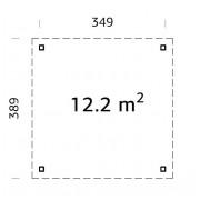 Palmako Pavilion Lucy 12.2m2 Flat Roof Gazebos