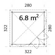 Palmako Pavilion Melanie 6.8m2 Corner Summerhouses