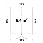 Palmako Shed Martin 8.4m2