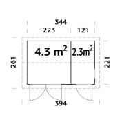 Palmako Shed Olaf 6.6m2 PALMAKO Garden Buildings