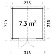 Palmako Shed Ralf 7.3m2