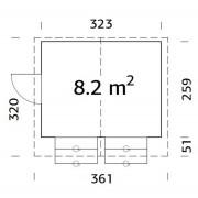 Palmako Kiosk Stella 8.2m2