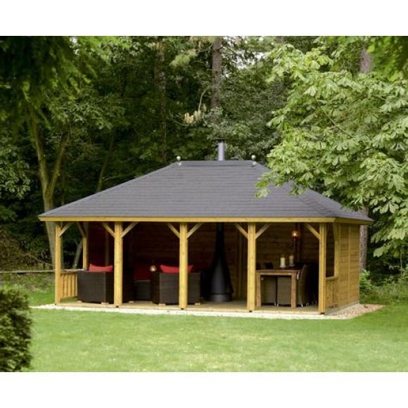 lugarde veranda ibiza 420 x 600cm - Garden Sheds With Veranda