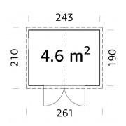 Palmako Shed Dan 4.6m2